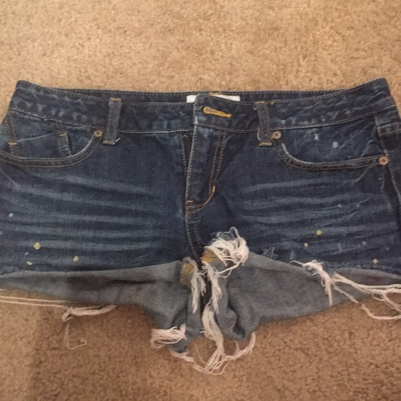 Aeropostale 9/10 jean shorts with paint original